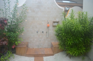 Our outdoor shower
