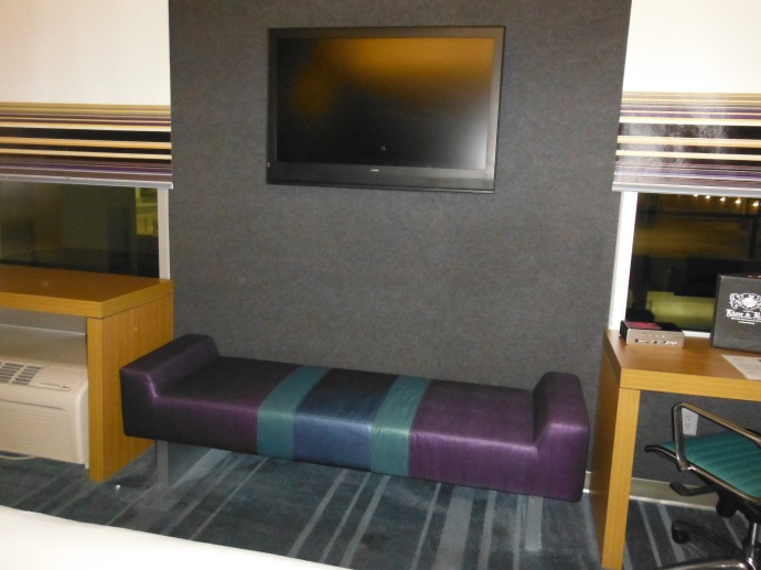 Room TV and lounger