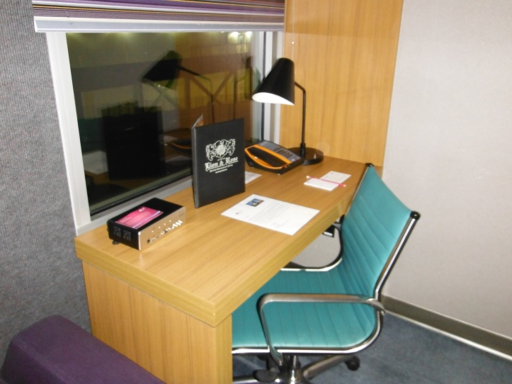 Work desk, and media hub