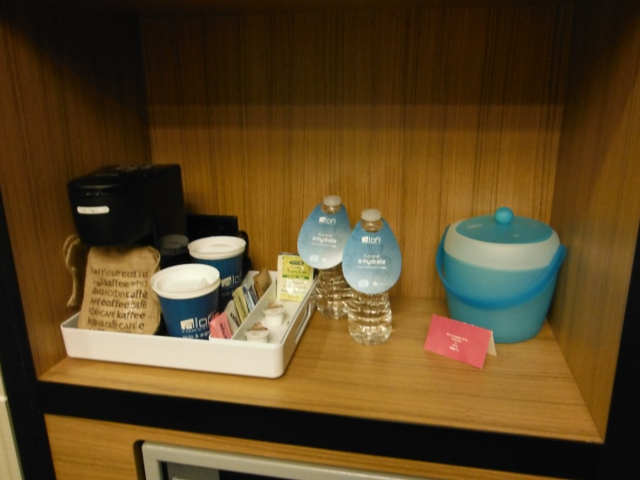 Coffee bar and complimentary waters