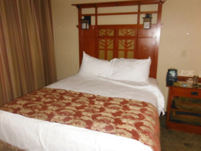 Our bed at The Grand Californian