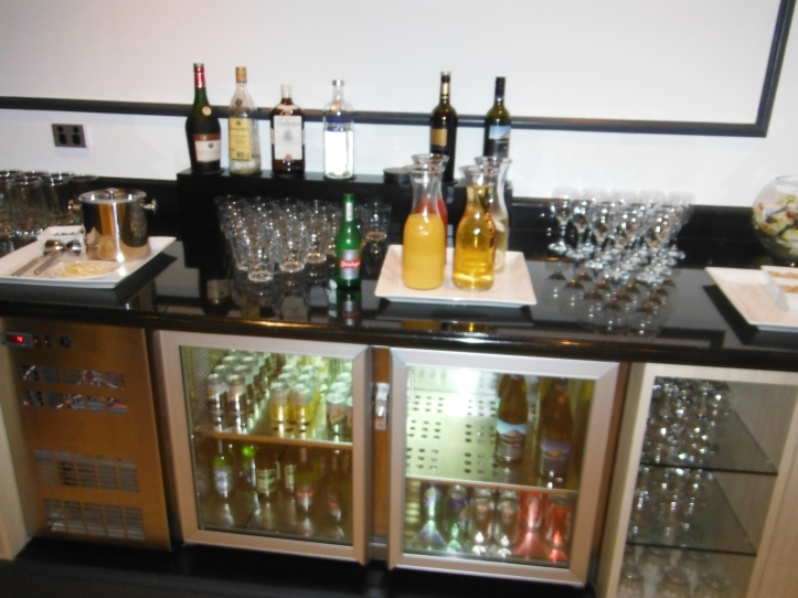 The bar at the lounge