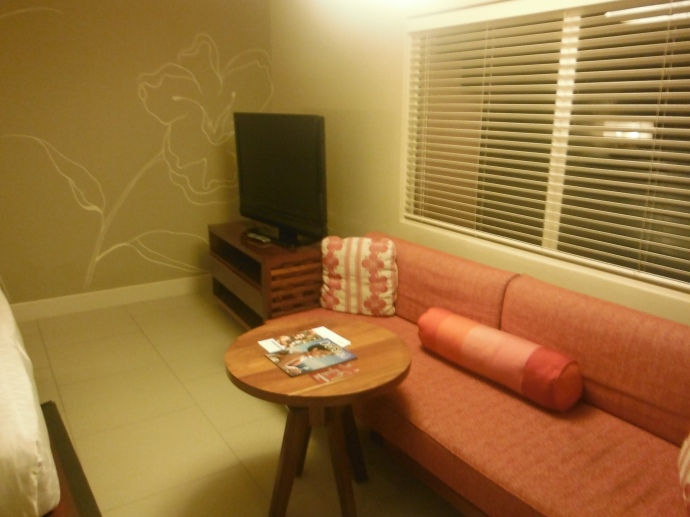 TV and sitting area