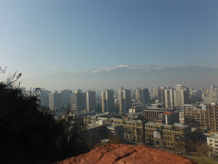 The view from Cerro Santa Lucia  230 feet above the city floor