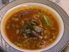 Spicy pork rib soup
